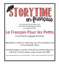 Story Time en Francais @ Stonewall Library @ Stonewall Library | Stonewall | Manitoba | Canada