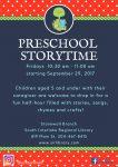 2017 Stonewall Preschool Storytime